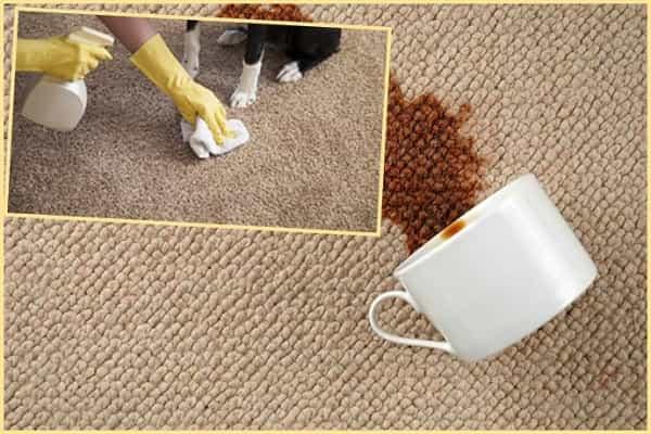 как очистить ковролин от кофейного пятна