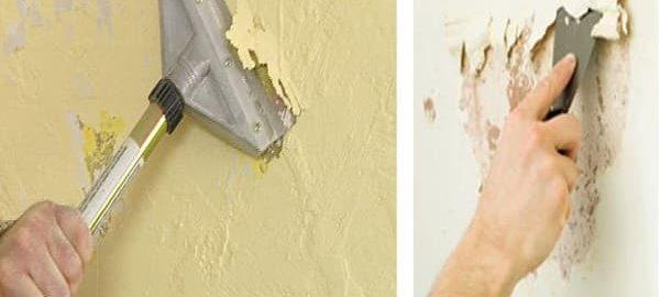 как снять побелку со стен своими руками