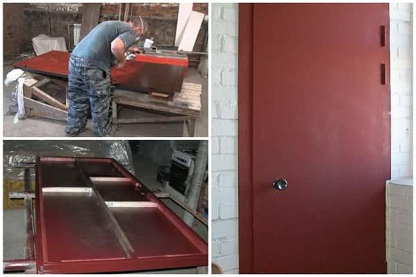 как покрасить металлическую дверь правильно