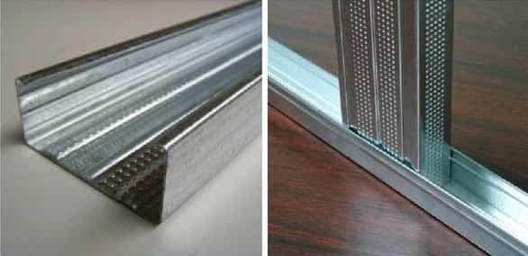как уменьшить дверной проем гипсокартоном и металлическим профилем