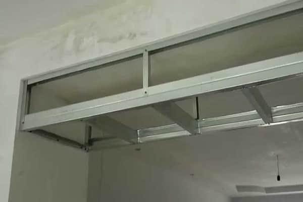 как уменьшить дверной проем гипсокартоном по высоте