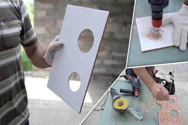 как просверлить отверстие в керамической плитке своими руками
