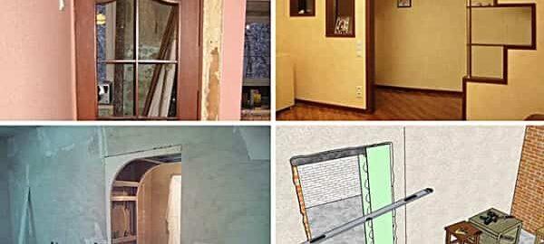 как уменьшить дверной проем гипсокартоном