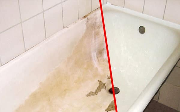 как обновить покрытие чугунной ванны