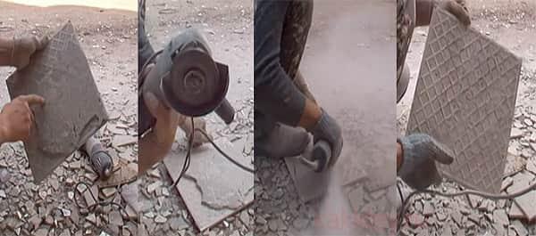 как очистить керамическую плитку от плиточного клея болгаркой
