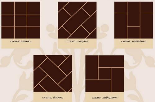 как правильно положить плитку на деревянный пол разными способами укладки