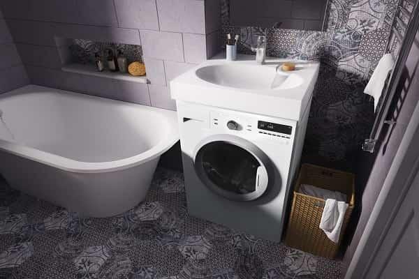 как установить умывальник над стиральной машиной собственноручно