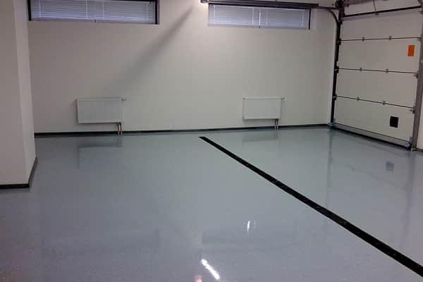 что положить на пол в гараже: наливное напольное покрытие