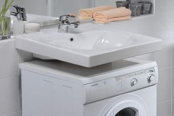 как установить умывальник над стиральной машиной своими руками