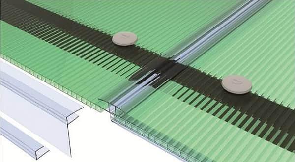как соединять листы поликарбоната между собой методом склеивания