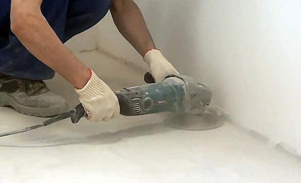 как уложить фанеру на бетонный пол: снятие старого покрытия болгаркой