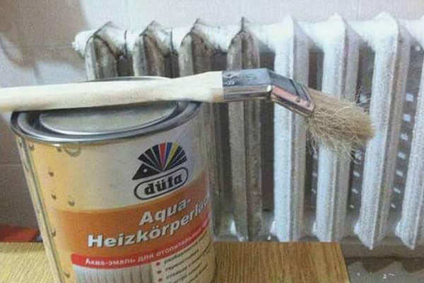 как покрасить чугунную батарею в домашних условиях должным образом
