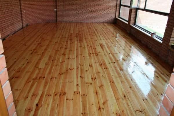 как шлифовать деревянный пол перед окрашиванием