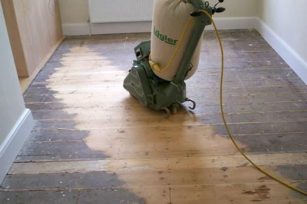 как шлифовать деревянный пол: циклевание