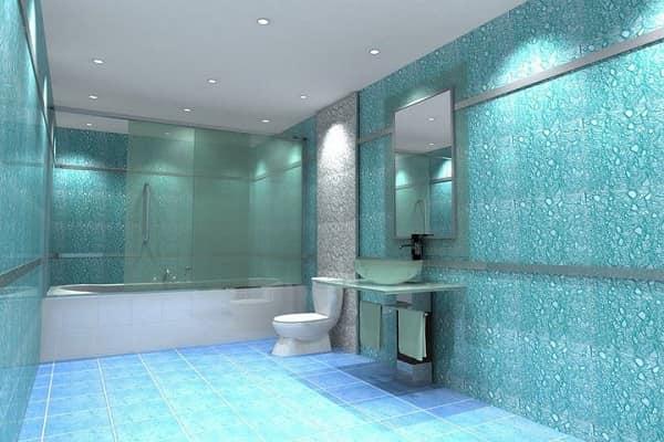 как выбрать обои под покраску на стены: стеклотканевые обои в ванной комнате
