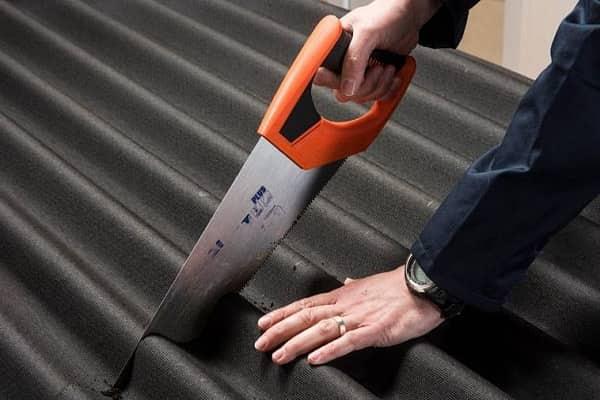 чем резать шифер волнистый: использование ножовки по металлу