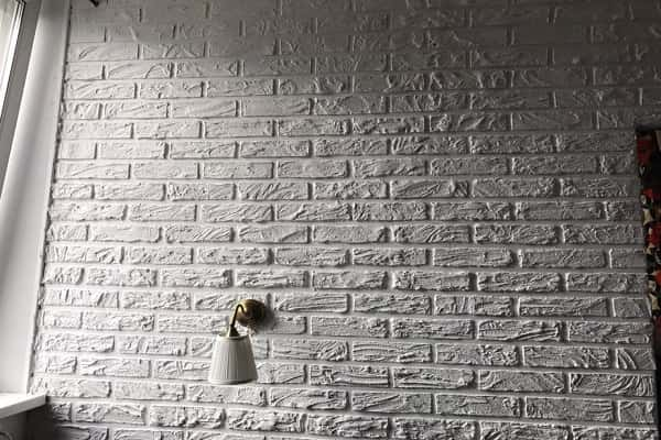 как сделать имитацию кирпичной кладки на стене красиво