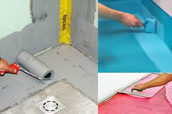 как выровнять пол в ванной комнате: гидроизоляция поверхности