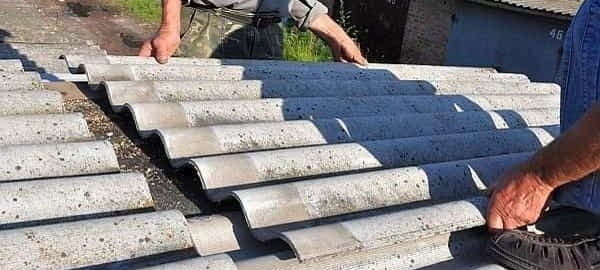 как снять шифер с крыши