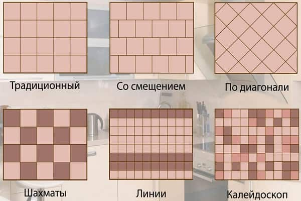как правильно положить плитку в ванной комнате: раскладки укладываемых изделий