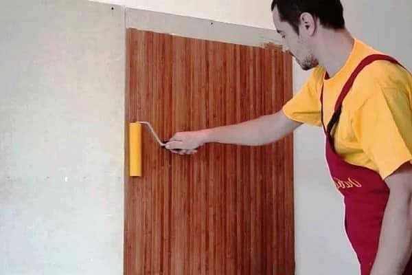 как клеить бамбуковые обои на стену самому