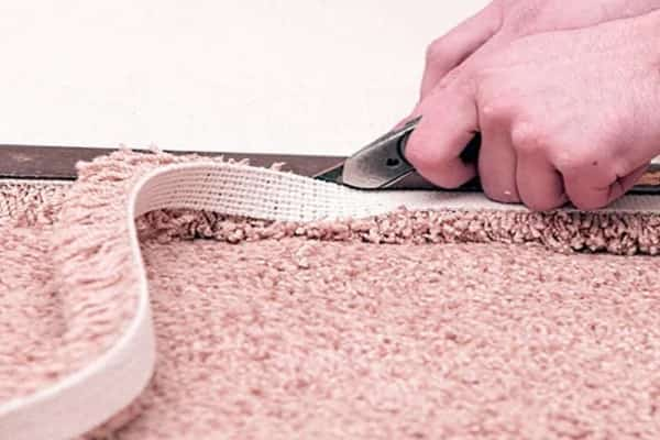 чем резать ковролин в домашних условиях