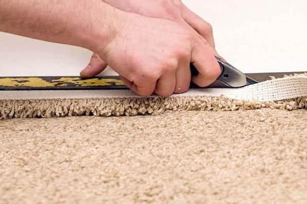 чем резать ковролин в домашних условиях: раскрой материала
