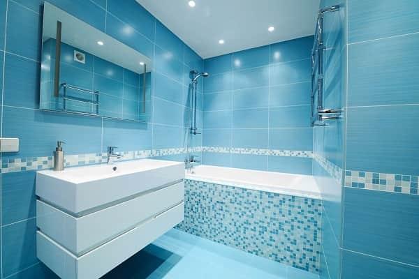 как выбрать плитку для ванной комнаты с учетом ее цвета