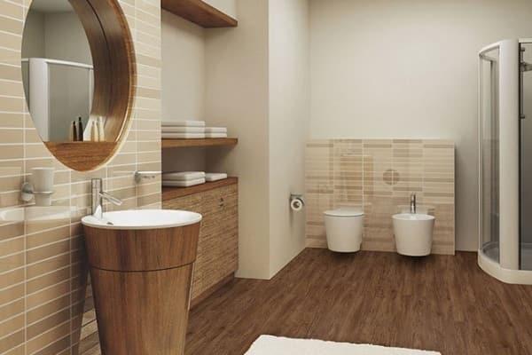 чем застелить пол в ванной комнате: линолеум