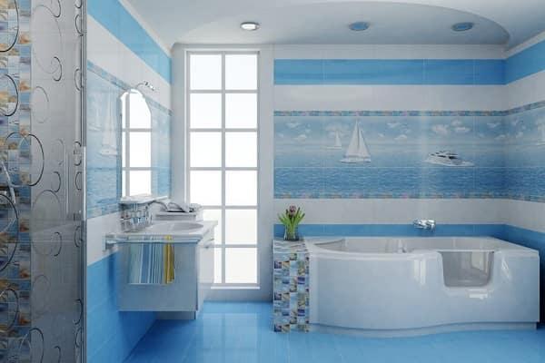 чем застелить пол в ванной комнате: керамическая плитка
