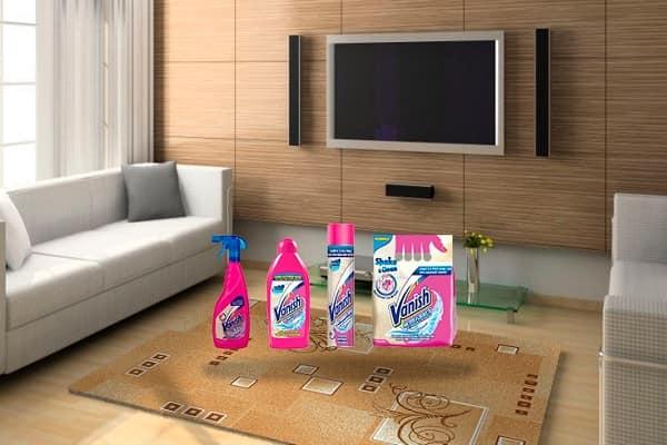 как почистить ковер ванишем в домашних условиях