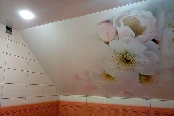 какой натяжной потолок выбрать для ванной комнаты