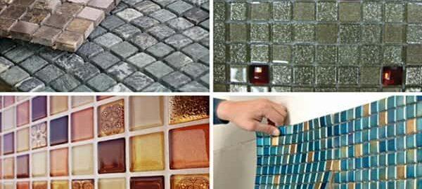 как клеить мозаичную плитку на стену