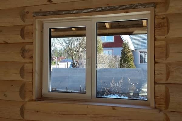 как самому установить пластиковое окно в доме из дерева
