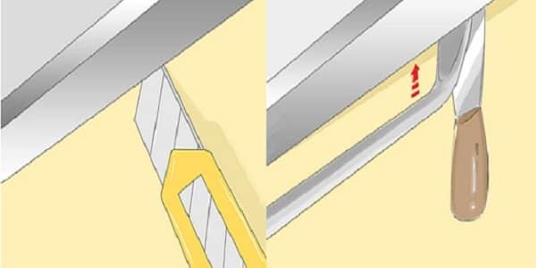 как снять плинтус с натяжного потолка без повреждения для возможности повторного использования