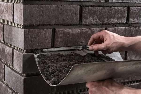 как затирать клинкерную плитку полусухим способом