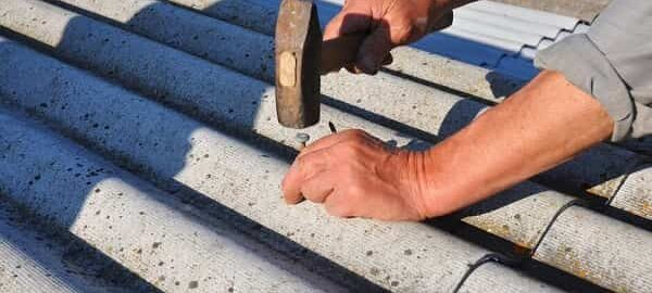 как прибить шифер гвоздями