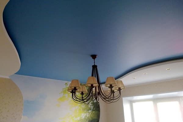 как выбрать цвет натяжного потолка: сатиновые полотна