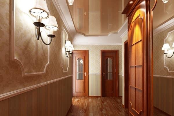 как выбрать цвет натяжного потолка: выбор полотна для коридора