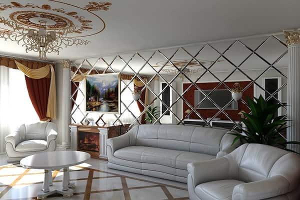 как приклеить зеркальную плитку на стену дома самому