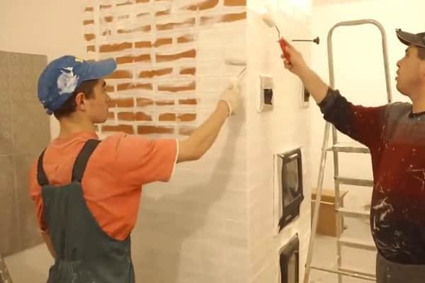 чем покрасить печь из кирпича в доме: процесс окрашивания