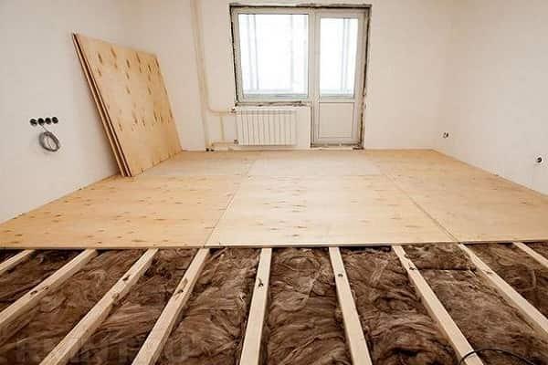 как постелить деревянный пол своими руками вместе с утеплением