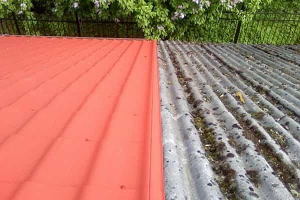 чем покрасить шифер на крыше дома: преимущества окрашивания
