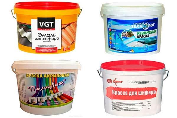чем покрасить шифер на крыше дома: выбор вида краски