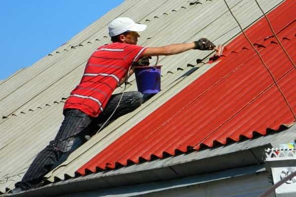 чем покрасить шифер на крыше дома: окрашивание материала