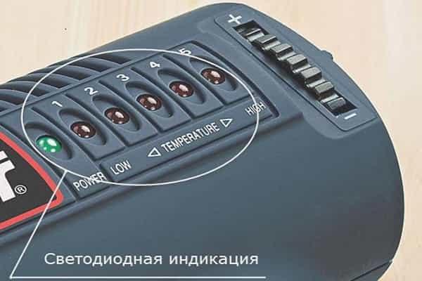 как выбрать строительный фен для домашнего использования: светодиодная индикация