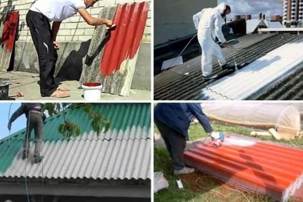 чем покрасить шифер на крыше дома
