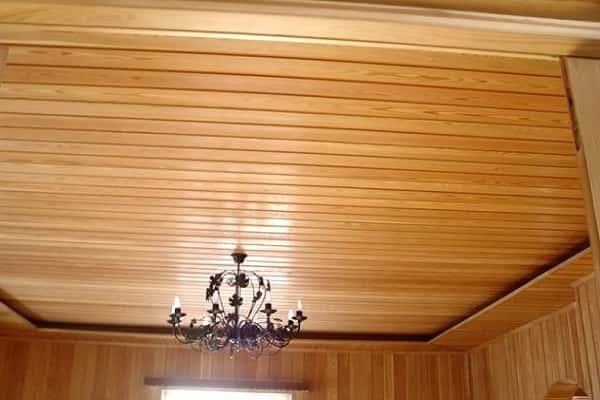 как обшить потолок вагонкой своими руками