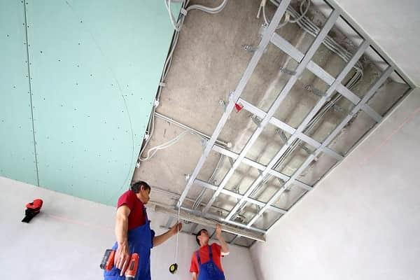 как сделать потолок из гипсокартона своими руками в домашних условиях
