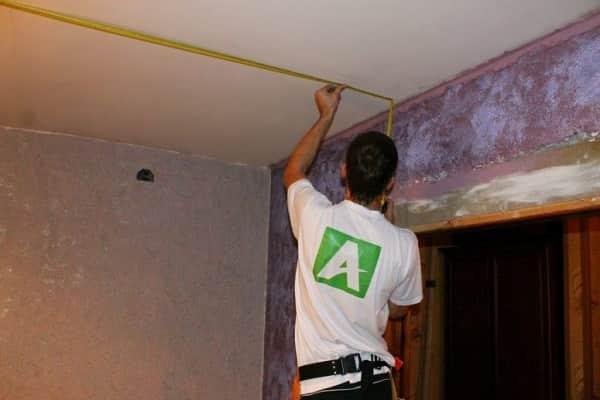 как обшить потолок вагонкой своими руками: разметка